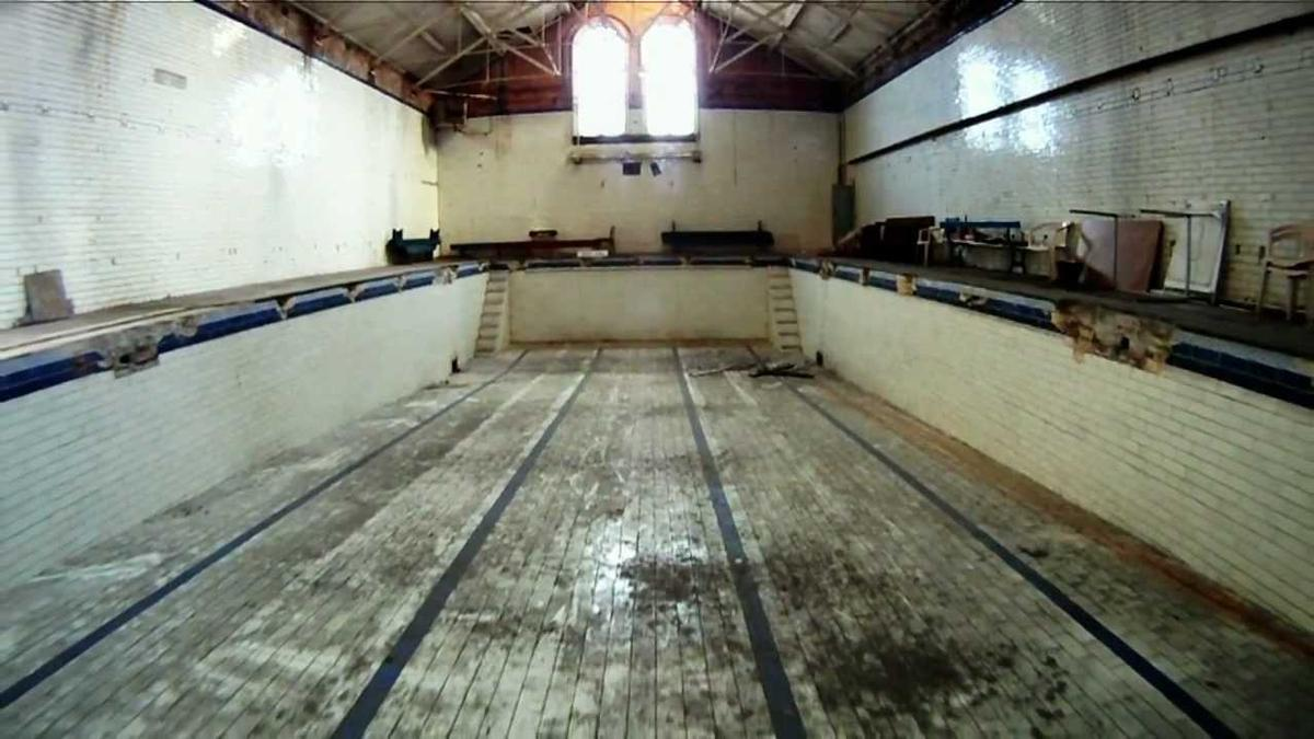 A lot of the building is in poor condition with the HLF funding used to expertly restore the heritage site