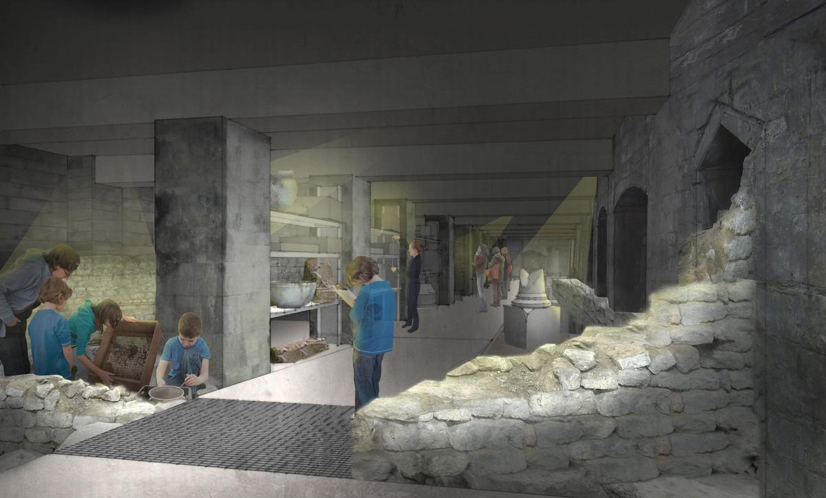 The HLF funding will open up never-before-seen areas of the Roman remains