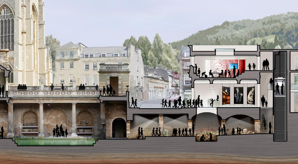 The learning centrewill link to the Roman Baths via an underground tunnel