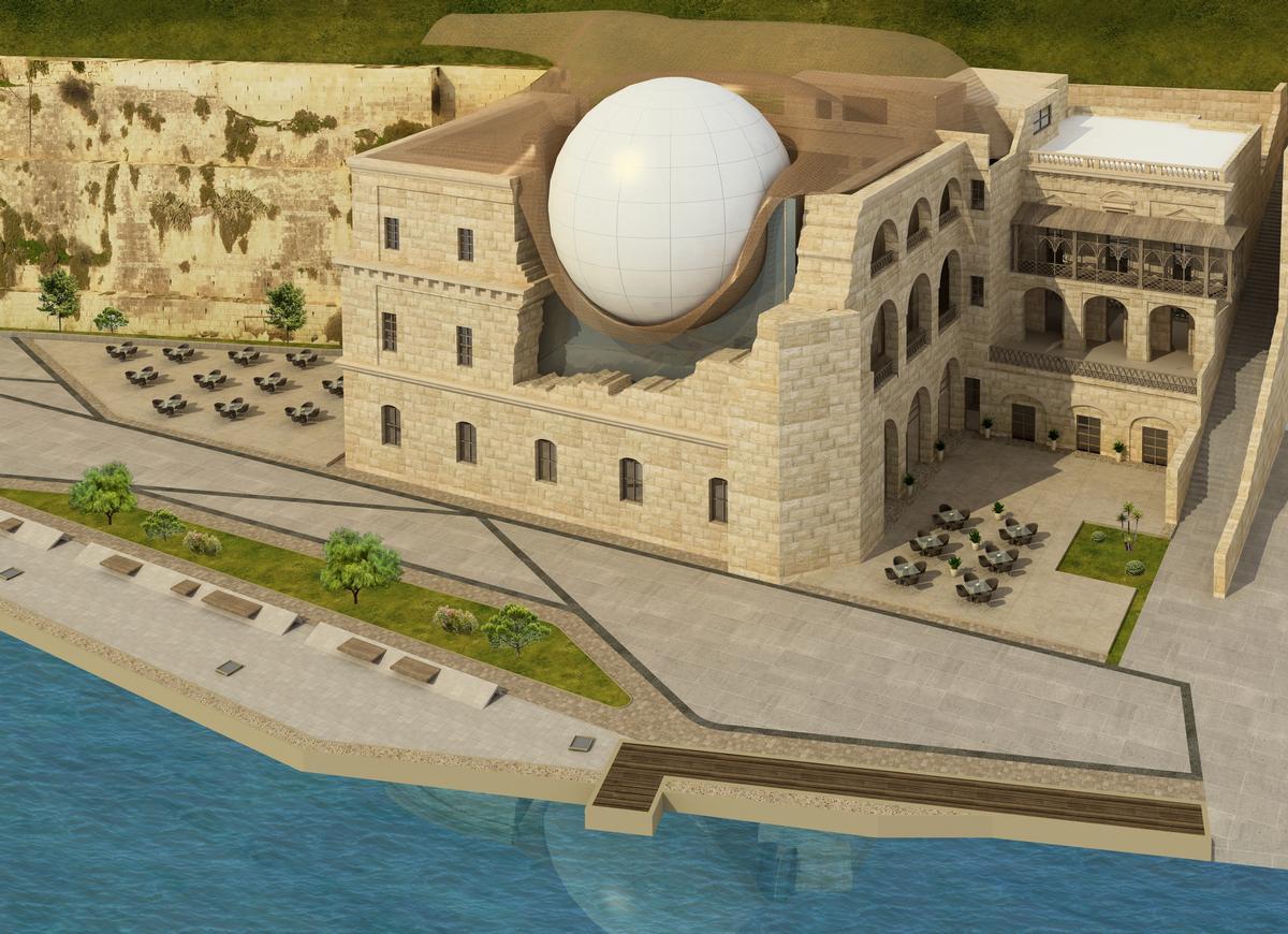 Esplora is located in Kalkara, Malta, in a former naval hospital overlooking the Grand Harbour