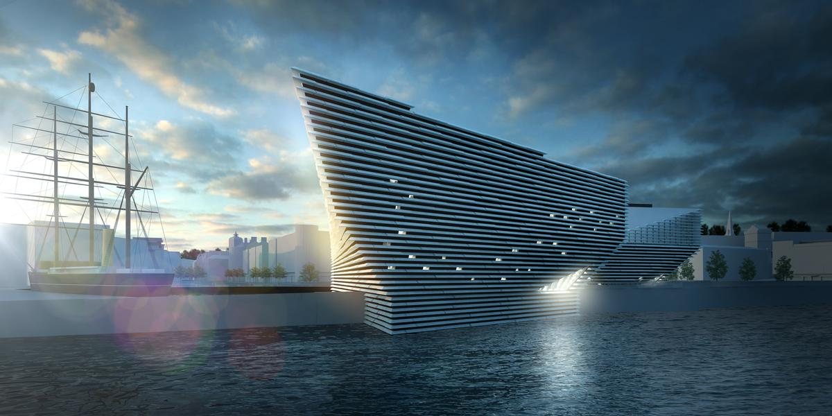 Opening in 2018, the V&A Museum of Design Dundee will be located on Dundee's revitalised waterfront / Kengo Kuma and Associates
