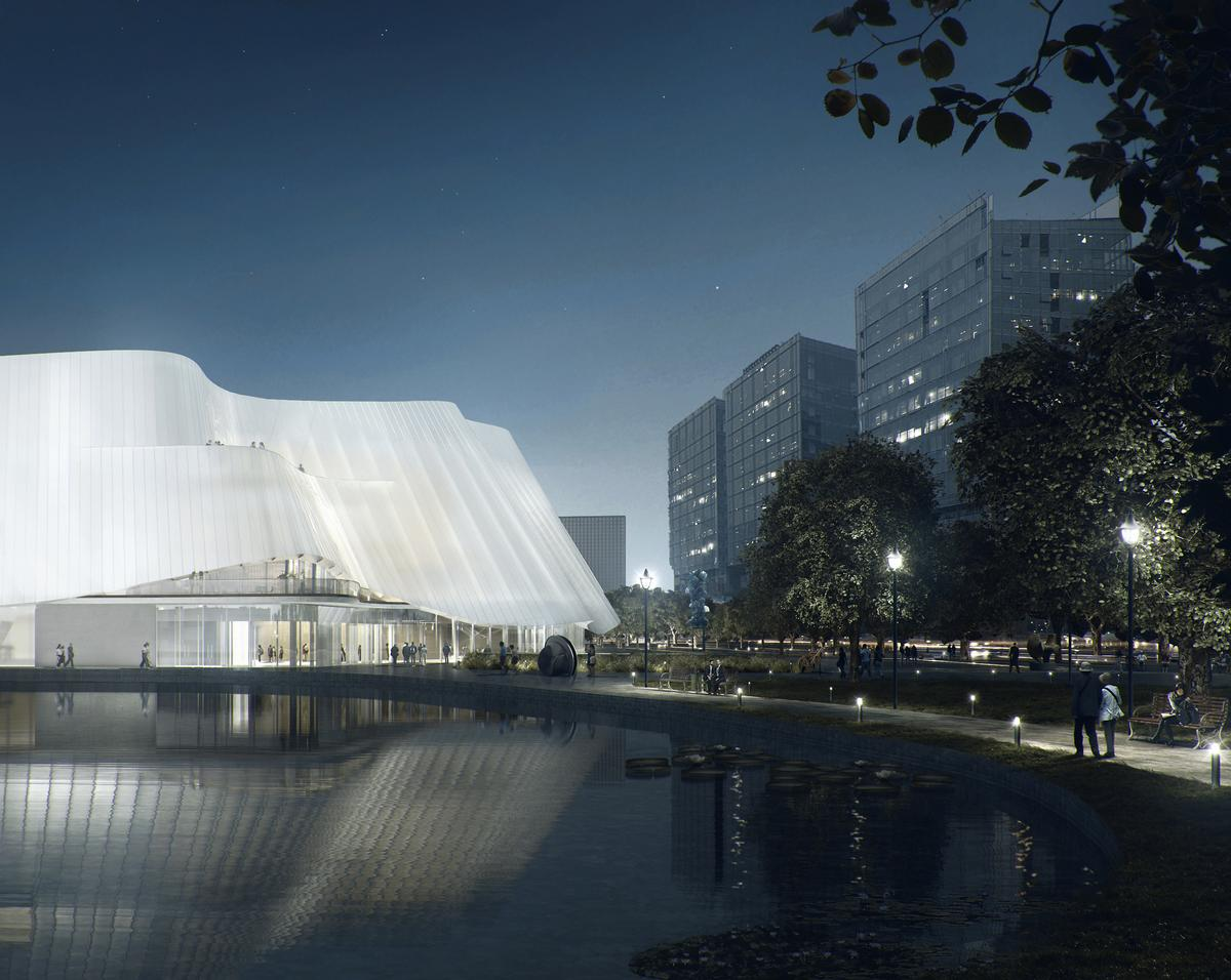 The design is intended to create an otherworldly experience for visitors / MAD Architects