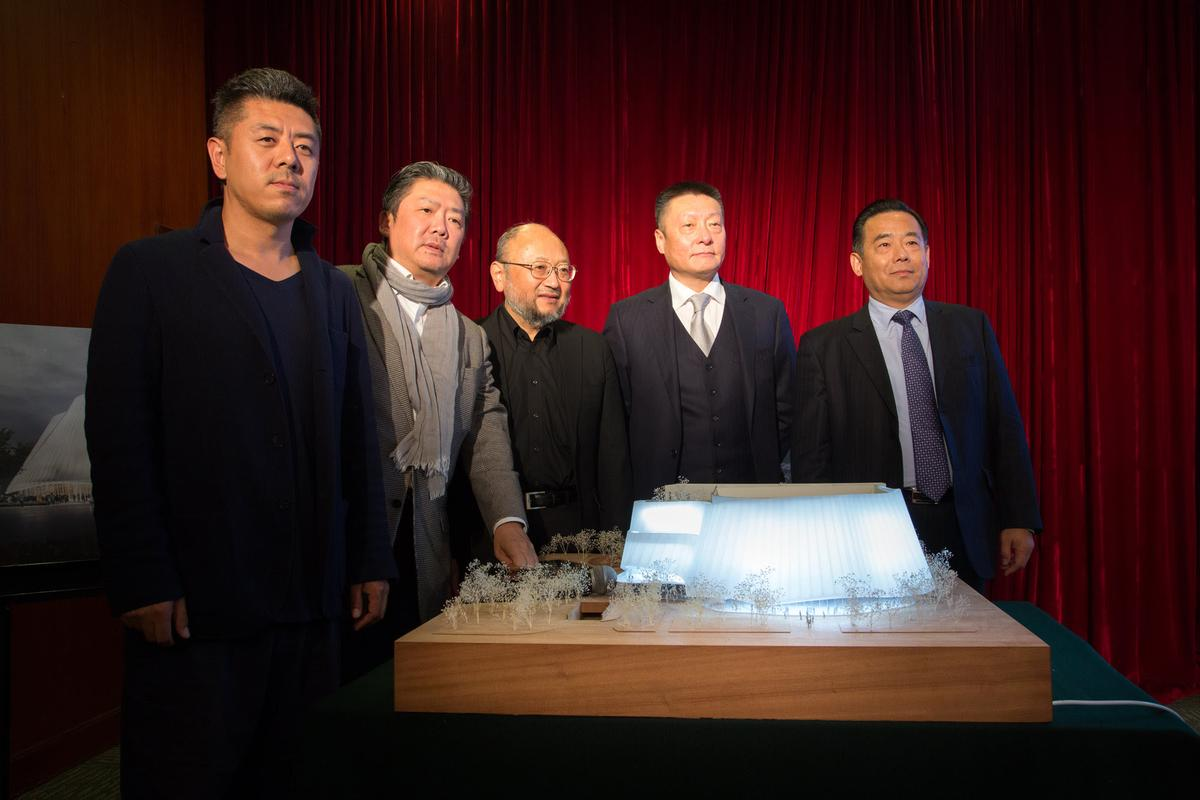 The design was unveiled in Beijin today (17 October) / MAD Architects
