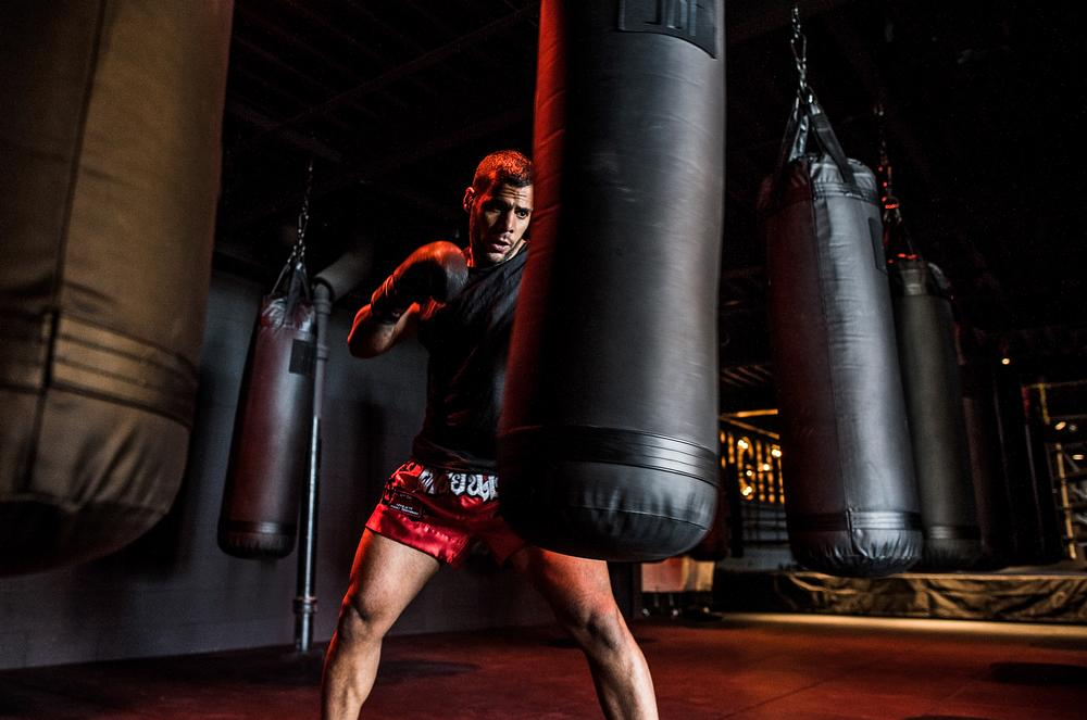 The club features two studios for boxing, with a range of classes developed by George Foreman III / Photo: Anthony Tahler