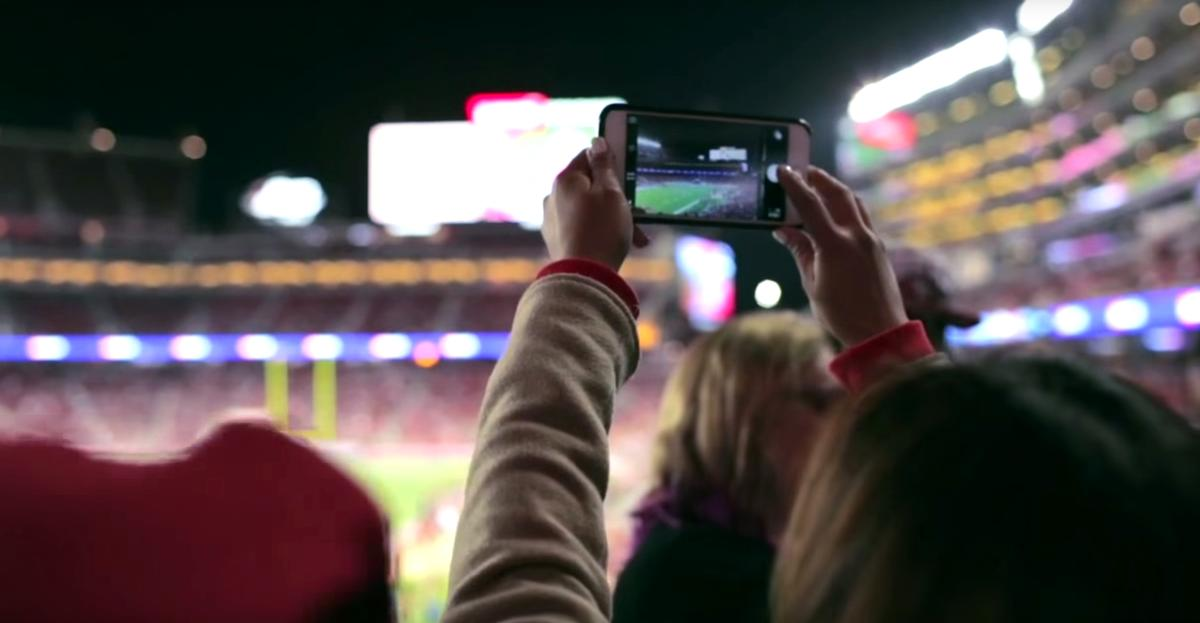 Some researchers believe new technologies can enhance the shared experience of being in a stadium / GMC/YouTube