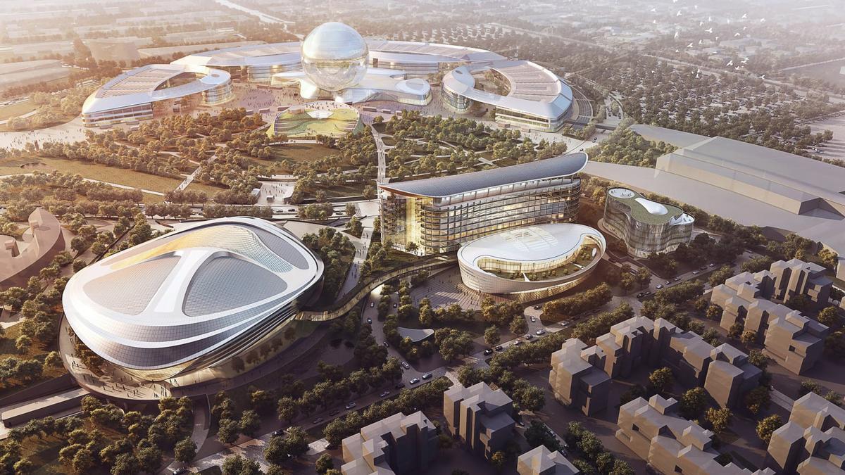 Adrian Smith + Gordon Gill Architecture won the AIA TAP design prize for their masterplan of Astana Expo City 2017 / Adrian Smith + Gordon Gill Architecture
