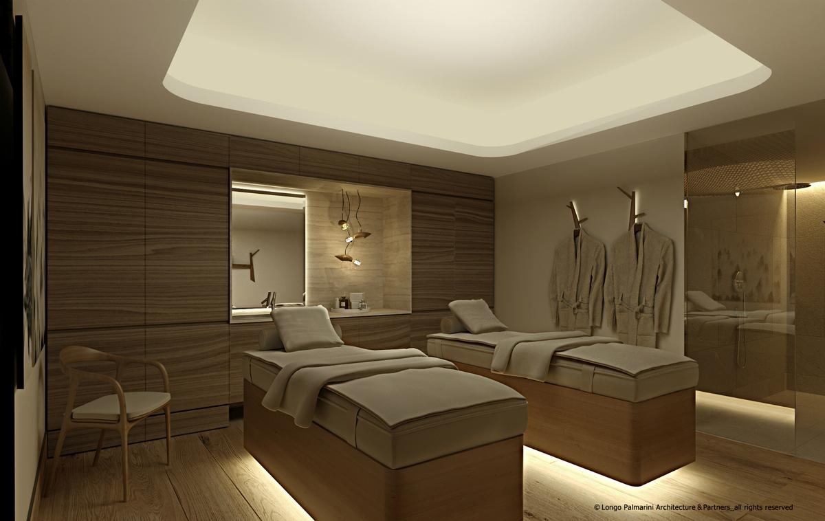 The 7,500sq ft (700sq m) spa features five treatment rooms – two double and three single