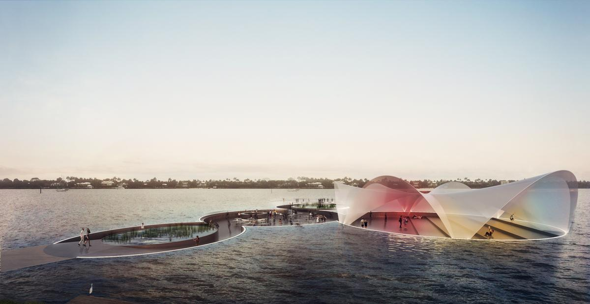 A system of responsive air chambers, similar to the ones used by submarines, will keep the floating peninsula stable / Carlo Ratti Associati