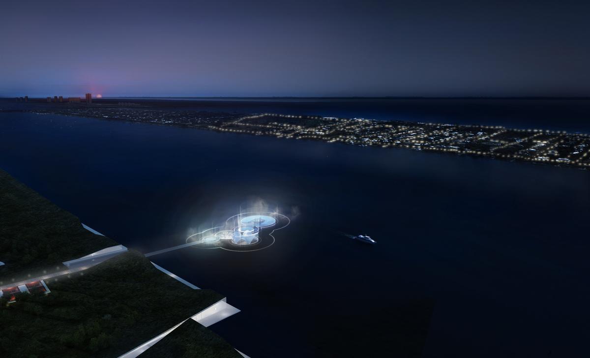 The floating plaza will be located on Lake Worth Lagoon / Carlo Ratti Associati