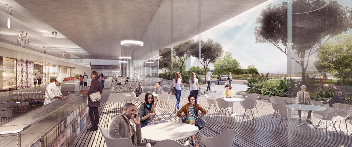 The wider masterplanned complex will include housing, retail and other leisure facilities / Carlo Ratti Associati