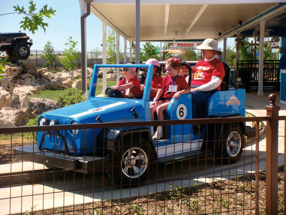 The rides are built to ensure that everyone can enjoy them together; all activities are accessible to people in wheelchairs