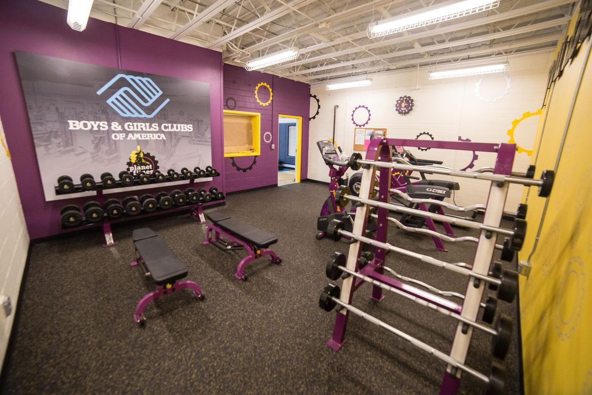 Designed to have the look of a Planet Fitness club, the gym is located at the Boys & Girls Club of Manchester
