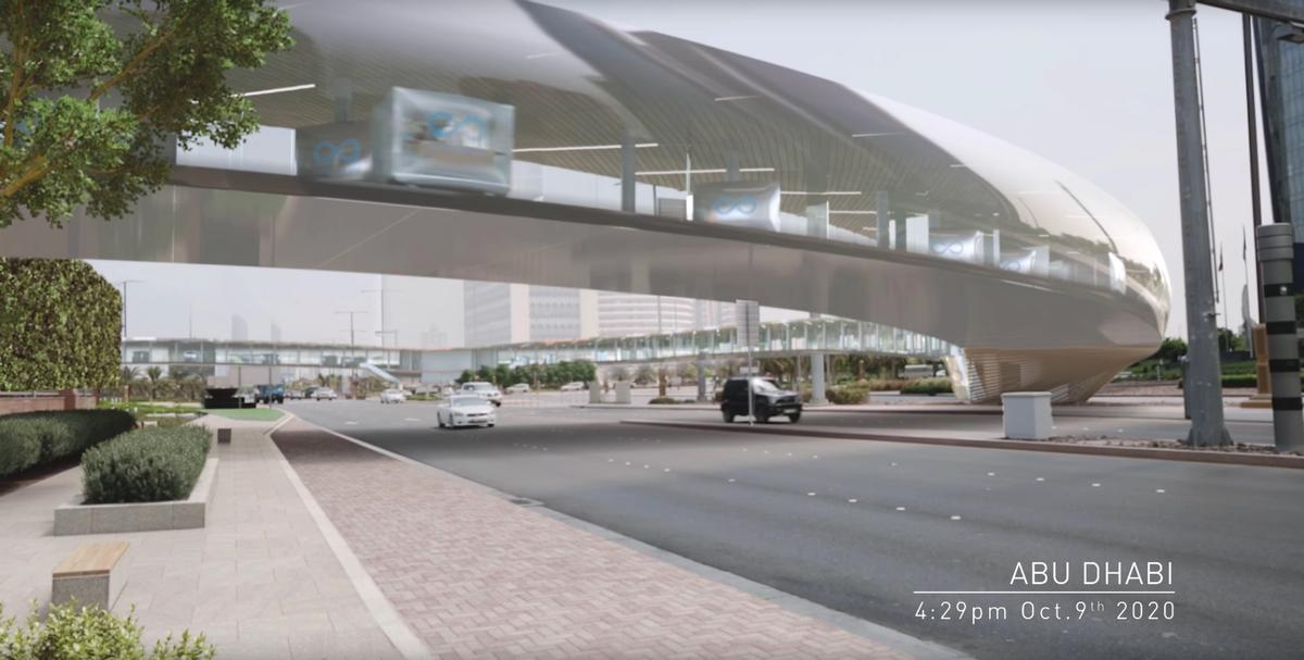 Passenger and cargo pods move between the gates and the larger Hyperloop transporters / Hyperloop One
