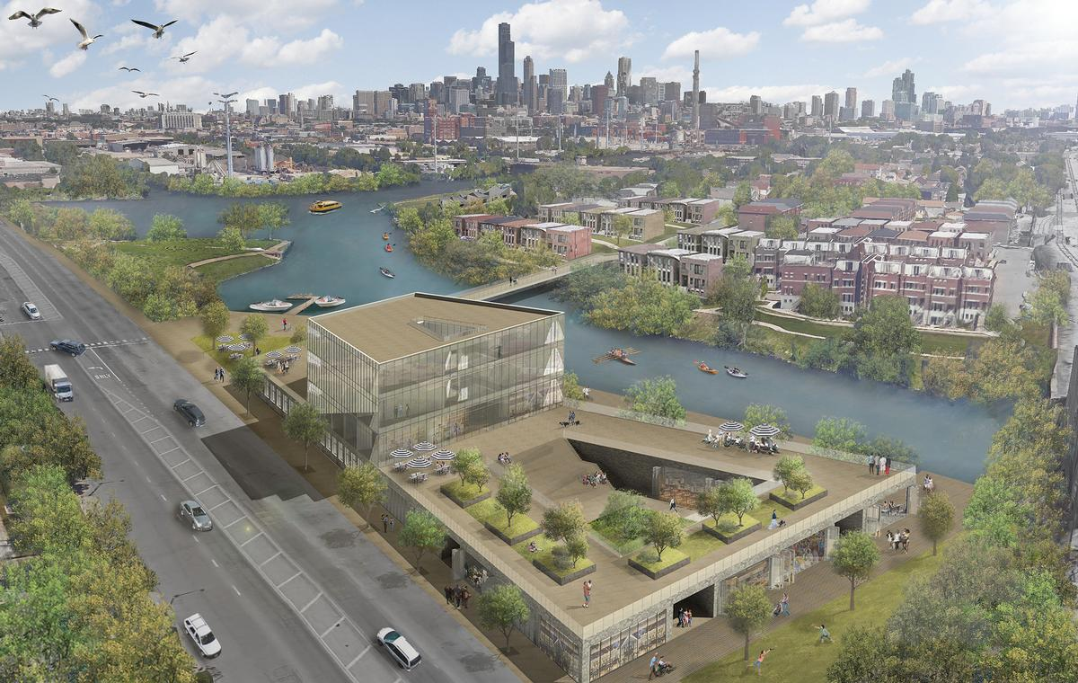 The architects have also written a report setting out a vision for all Chicago's three rivers / Ross Barney Architects and Metropolitan Planning Council