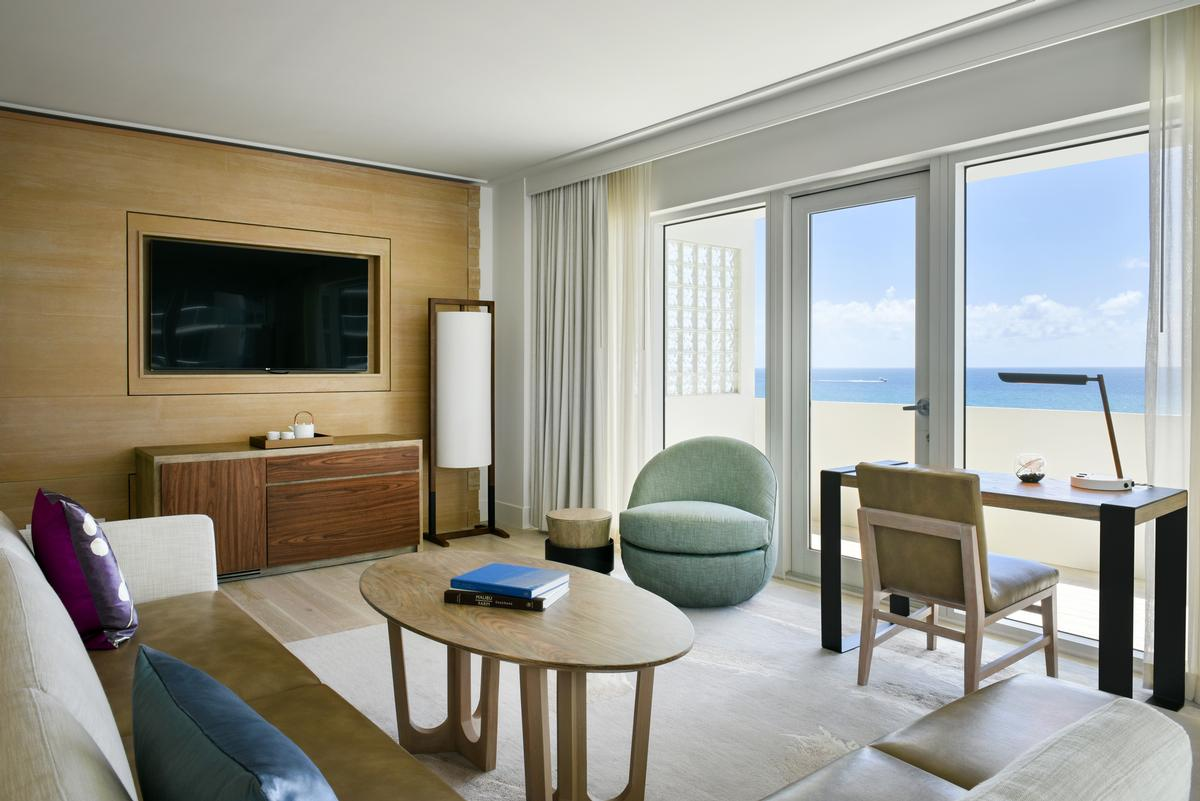 The hotel aims for a 'perfect balance of luxury, fun, craft and theatre that delivers the ultimate barefoot luxury experience in Miami' / Nobu Miami Beach