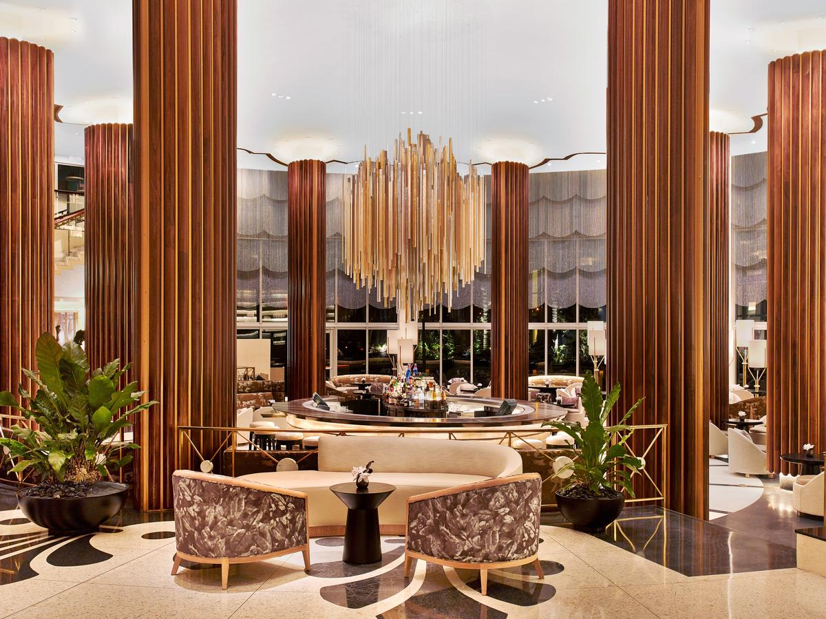 Rockwell's aim was to create a 'sumptuous yet contemporary environment' / Nobu Miami Beach