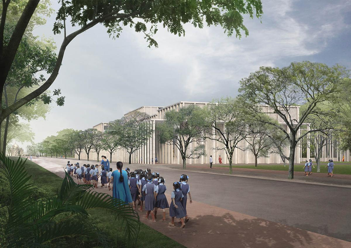 The museum will be dedicated to the history and culture of Northern India's Mughal dynasty / David Chipperfield Architects
