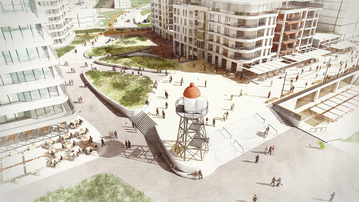 West 8 unveil plans to revamp The Hague's seafront by building new dunes