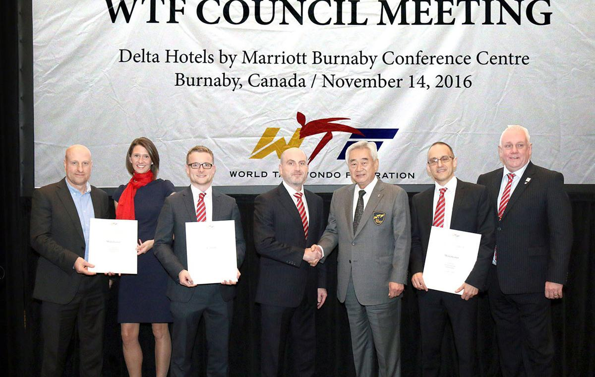 GB Taekwondo was awarded the events during a WTF meeting in Canada