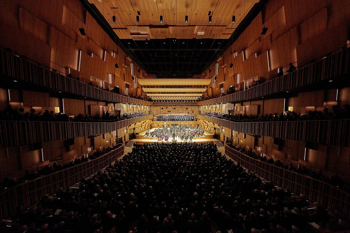 The project combines a concert hall, convention centre and hotel and was built in a public-private partnership / WAF