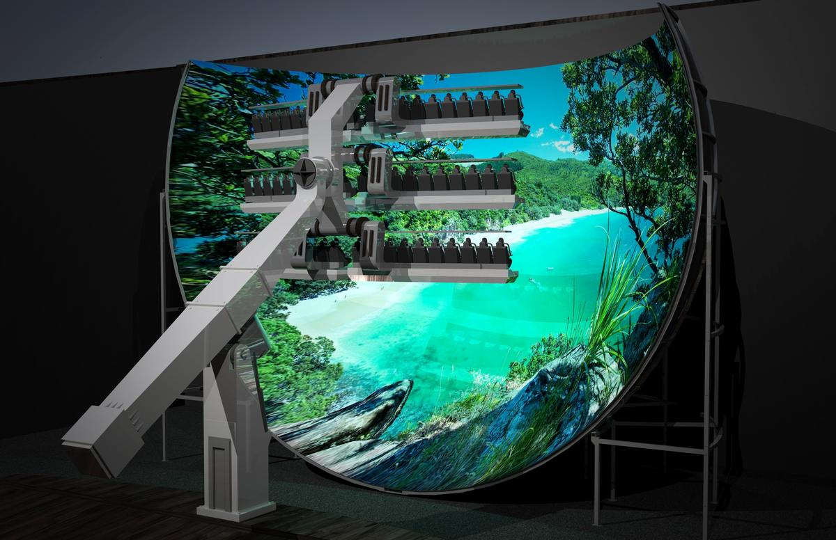 Simworx and Mondial have launched the 360 Flying Theatre