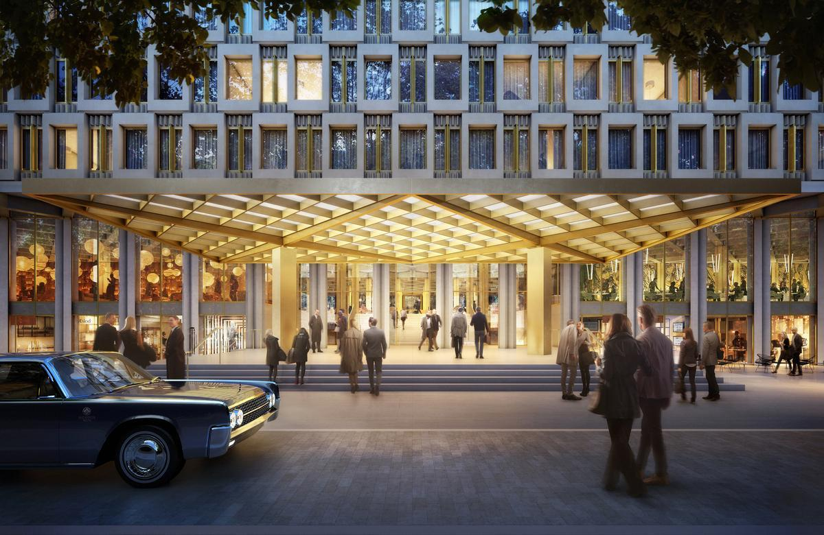 The project will include a 137-guestroom hotel and mixed-use space including five restaurants, six flagship retail units, a spa and a 1,000-capacity ballroom / Qatari Diar
