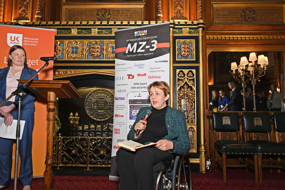 Tanni Grey-Thompson (right) with Tracey Crouch (left)