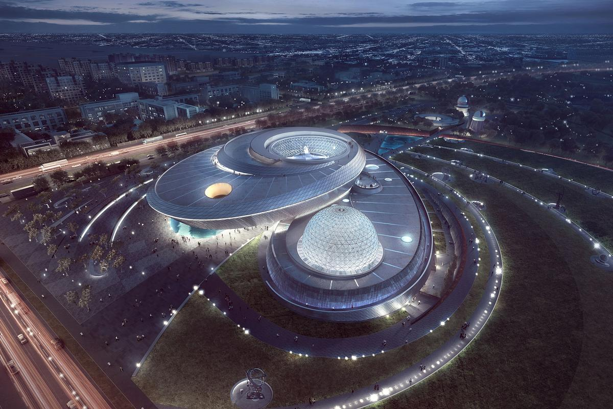 Visitors will be guided through each of the building's three principal forms – the Oculus, the Inverted Dome and the Sphere / Ennead Architects