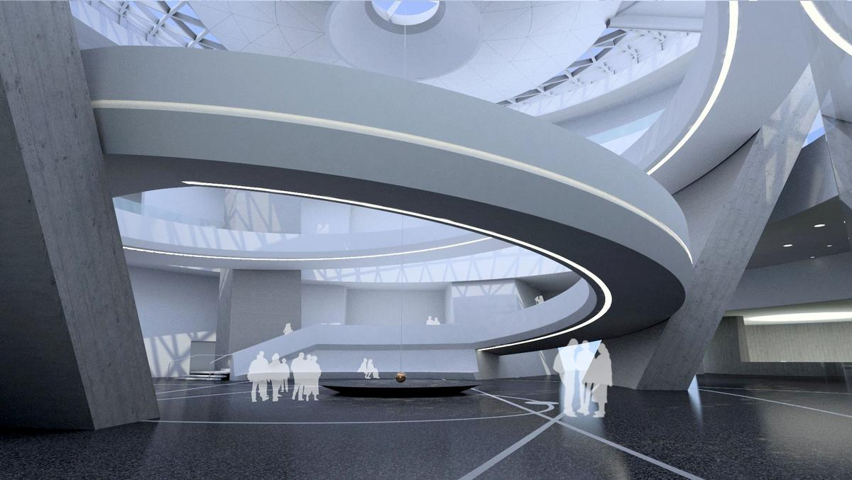 The 38,000sq m (409,000sq ft) facility will explore the mysteries of space, celebrate the history of Chinese astronomy and reflect the future ambitions of China's space exploration programme / Ennead Architects