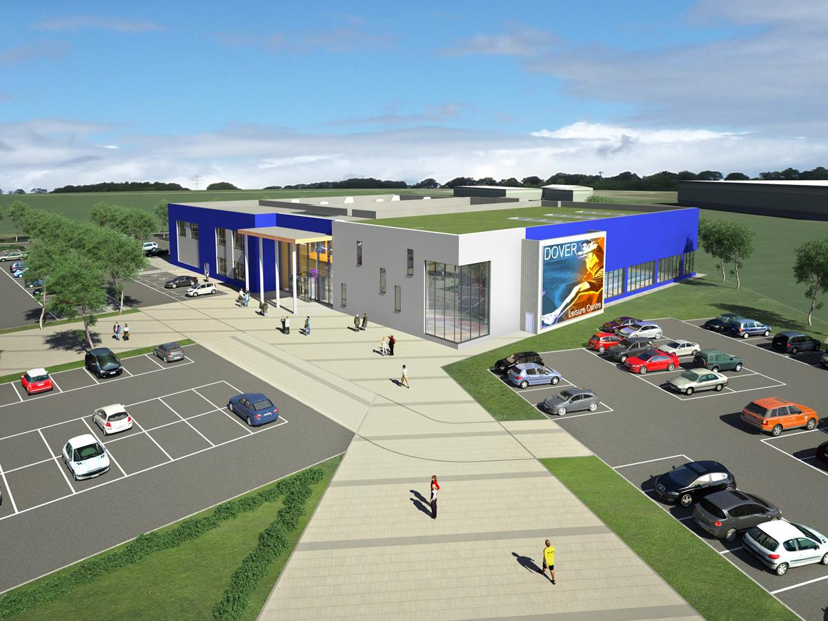 Artist's impression of the planned leisure centre in Dover