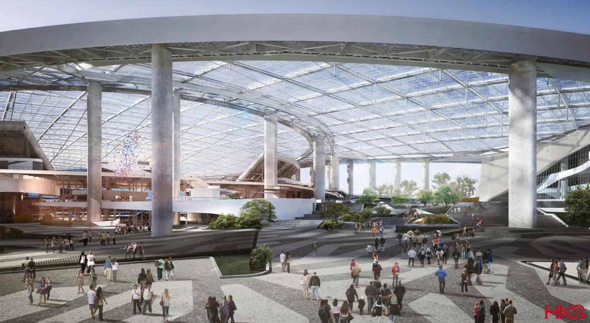 A lightweight, transparent Ethylene tetrafluoroethylene (ETFE) membrane will be used on part of the roof to add to the feeling of being in an open-air environment / HKS