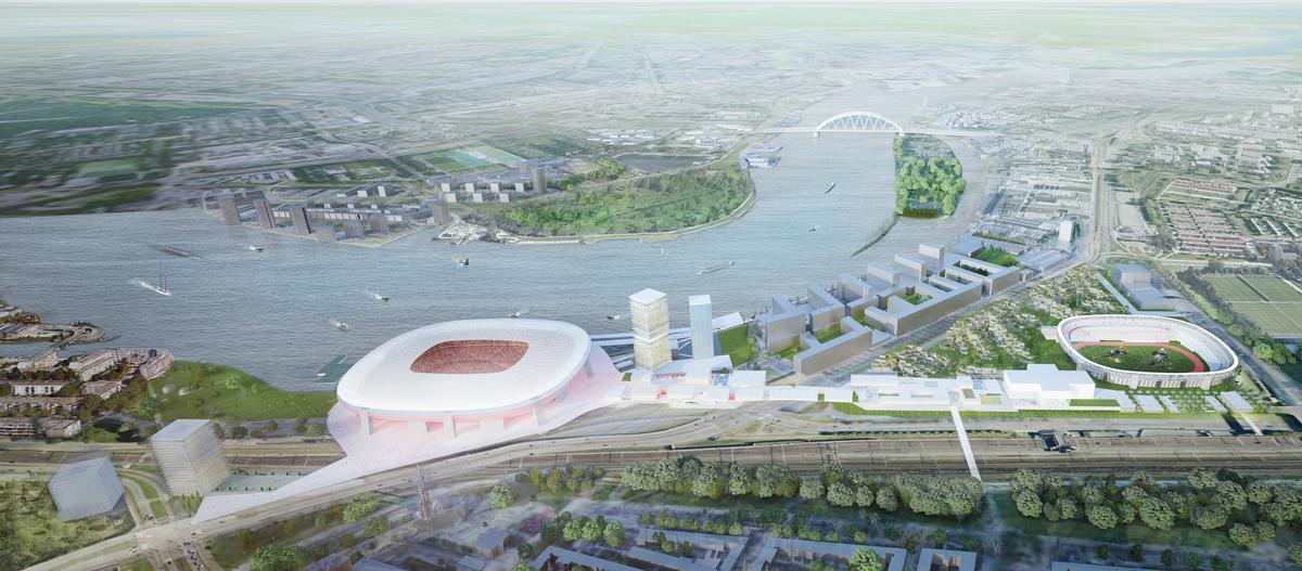 Architects OMA have designed the ambitious masterplan / OMA