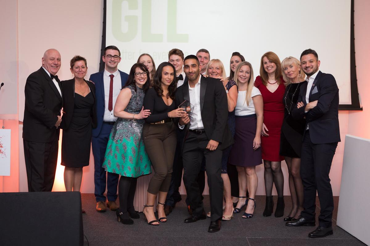 GLL won Employer of the Year at the Active Training Awards
