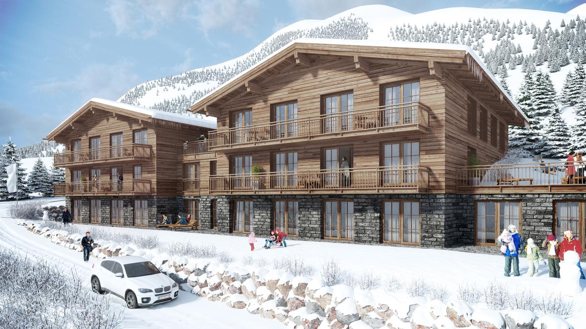 artist s impression of the new luxury development at blumen haus lech which has been constructed. Black Bedroom Furniture Sets. Home Design Ideas