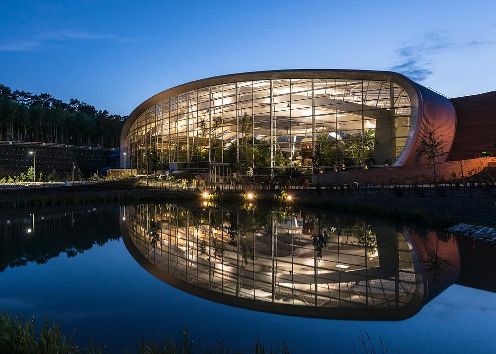Center Parcs Woburn Forest is spread across a 362 acre site  in the Bedfordshire countryside. The Dome overlooks the lake