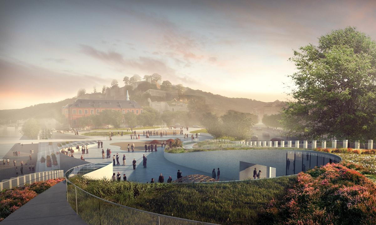 A new public plaza will be created for visitors to meet, socialise and participate in cultural activities / 3XN