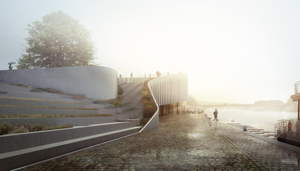 The scheme's soft curves have been designed to create a calming atmosphere / 3XN