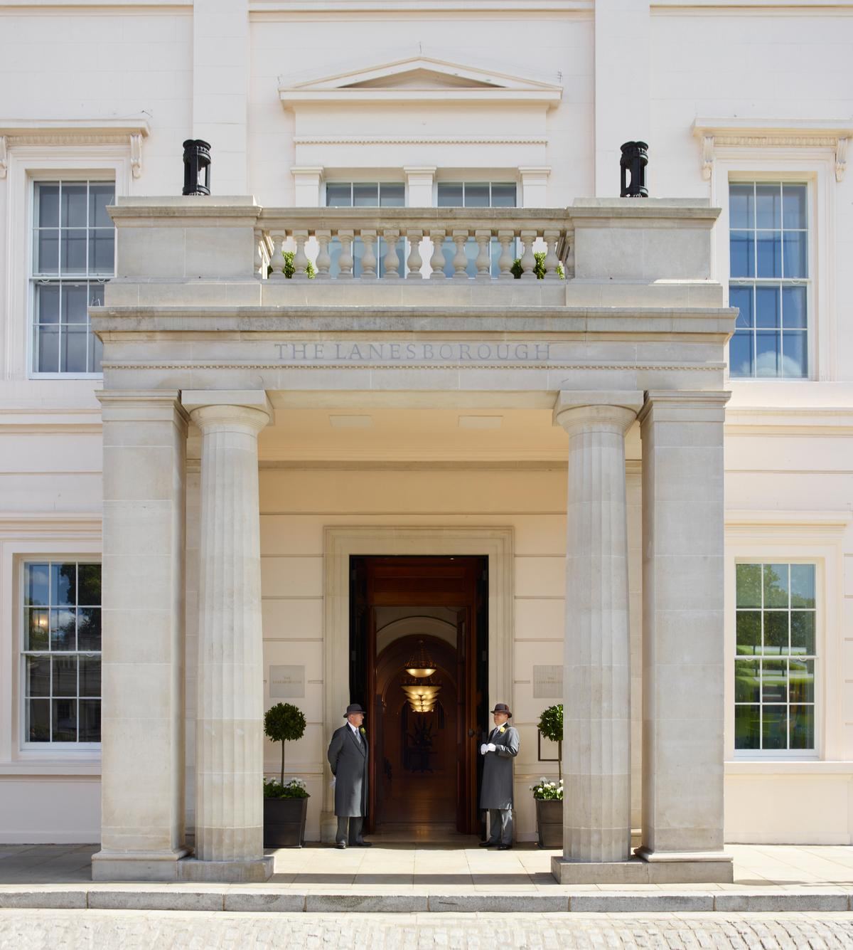 The language of the spa is taken from the hotel, including Portland stone, rich timbers and paneling