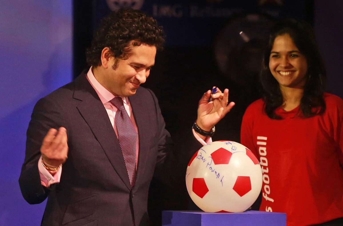 Sachin Tendulkar has given a high profile to the Indian Premier League as the owner of Kerala Blasters Football Club / Rafiq Maqbool/AP/Press Association Images