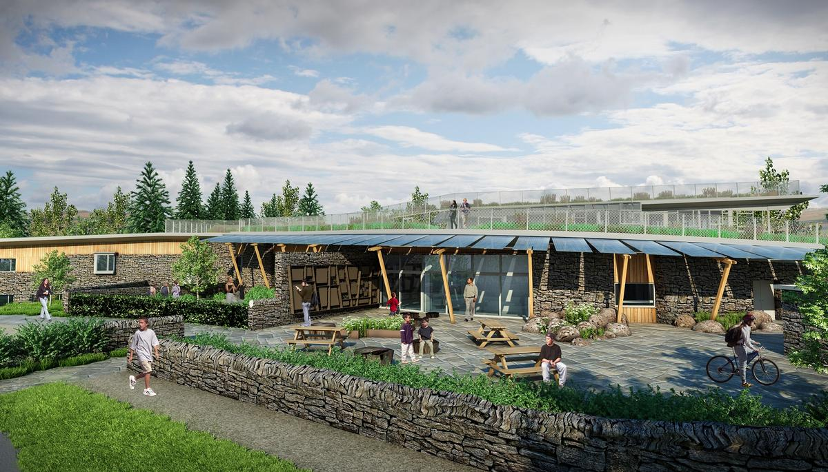 JDDK's design incorporates the Northumbrian landscape in both its form and materials used in construction