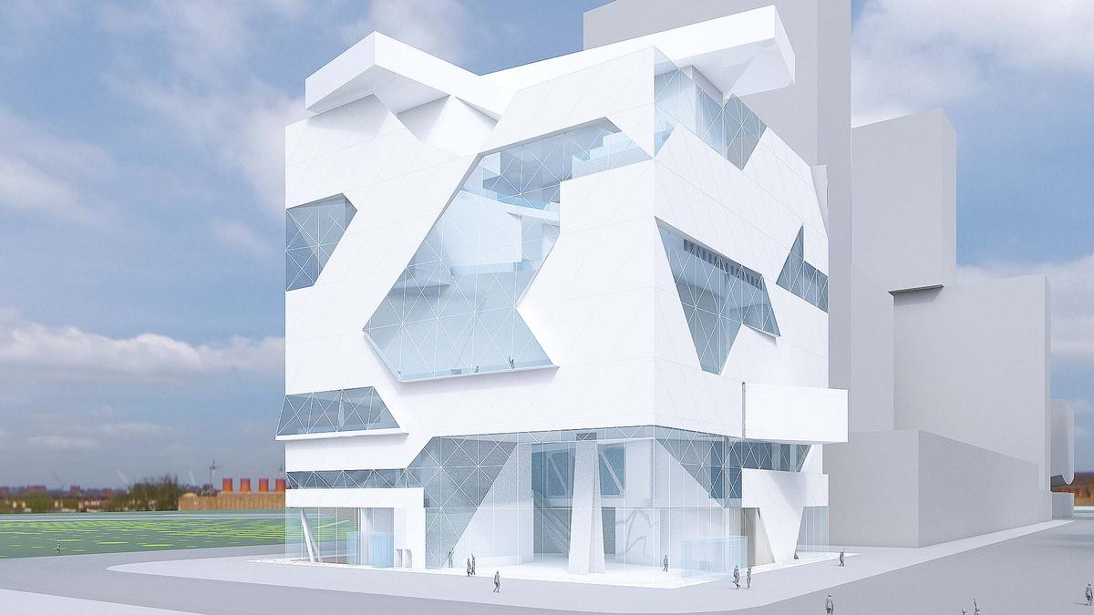 The new branch of the Hermitage Museum will display contemporary art / Asymptote Architecture