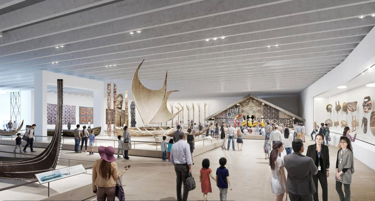 The 2,700sq m (29,000sq ft) extension and wider redevelopment will more than triple museum floorspace