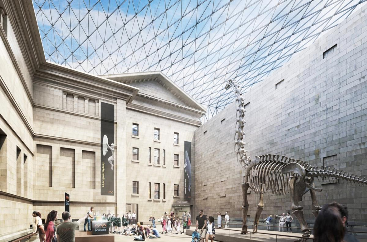 The new masterplan envisages a great hall at the site's centre