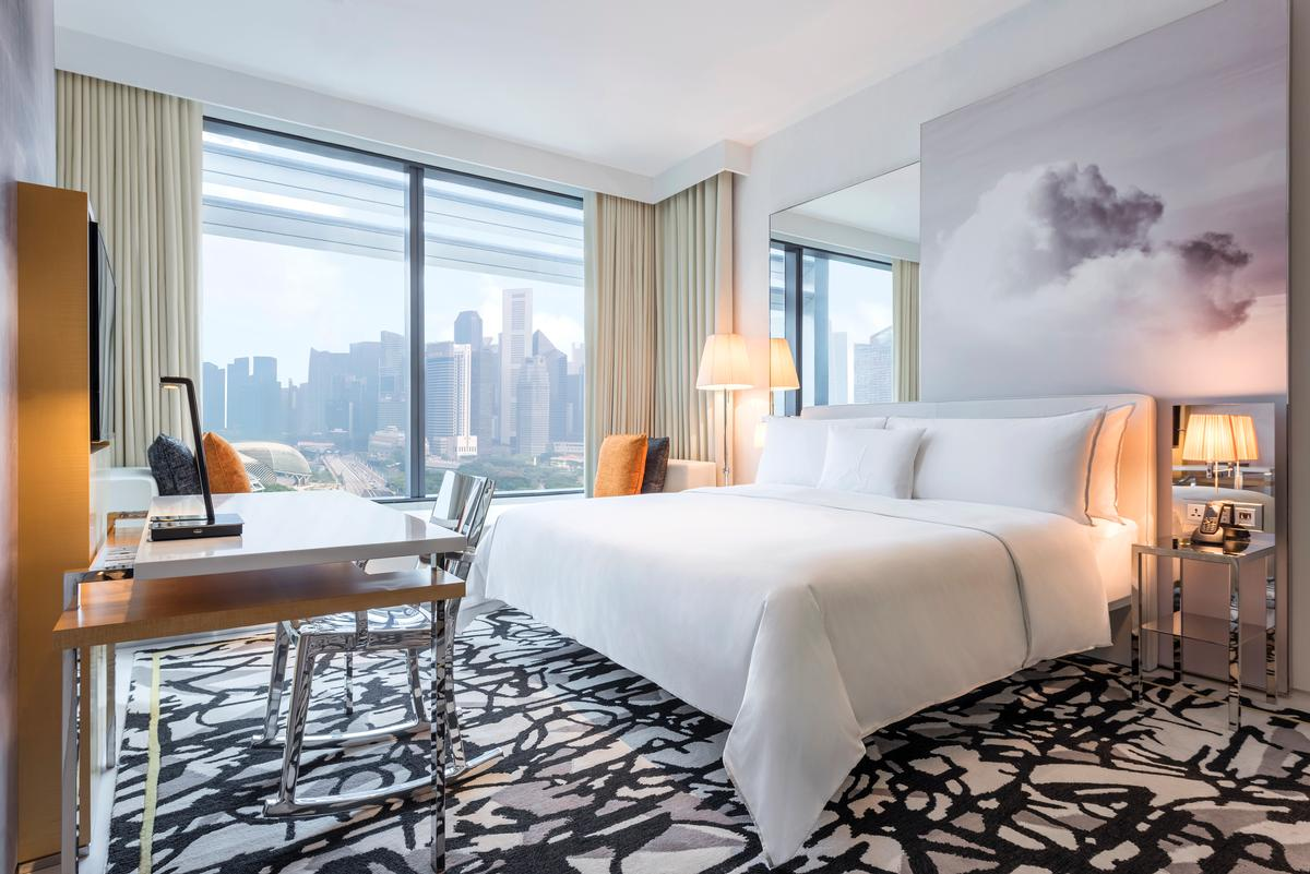The hotel is located in close proximity to the city-state's Marina Bay entertainment and business districts