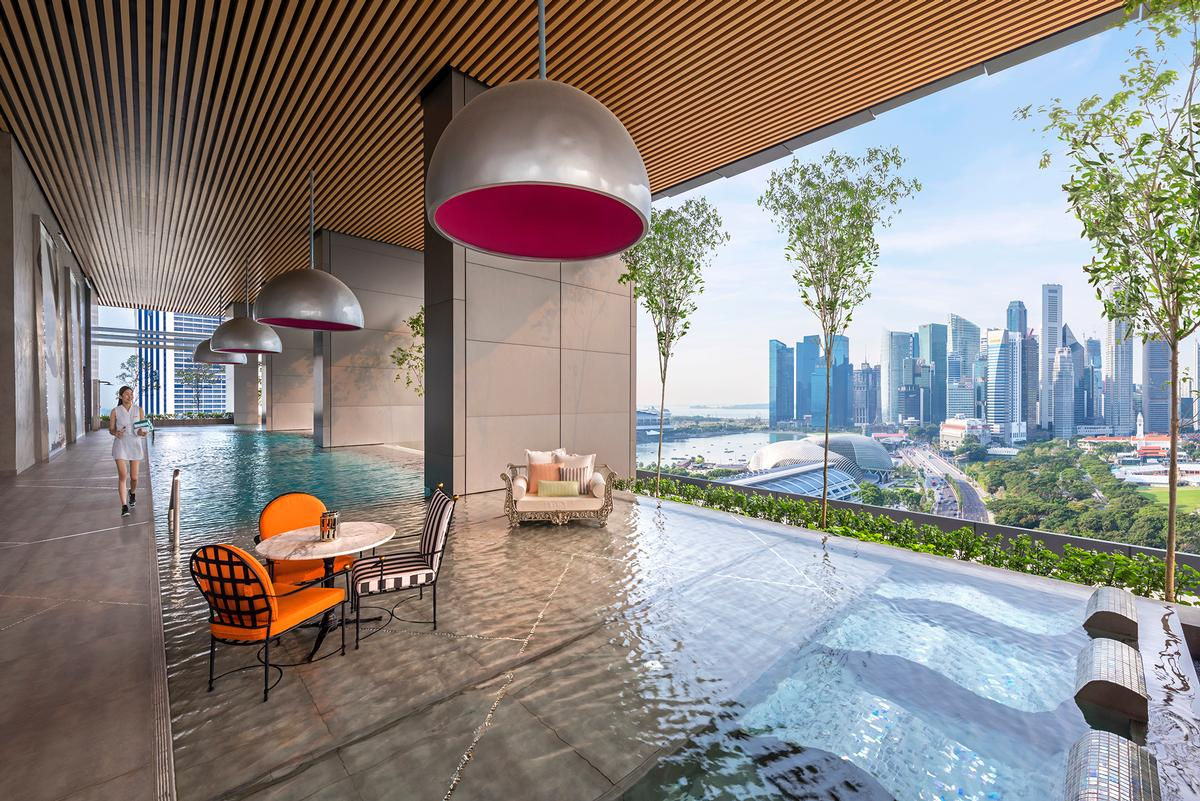 Sky gardens are a feature of the luxury hotel