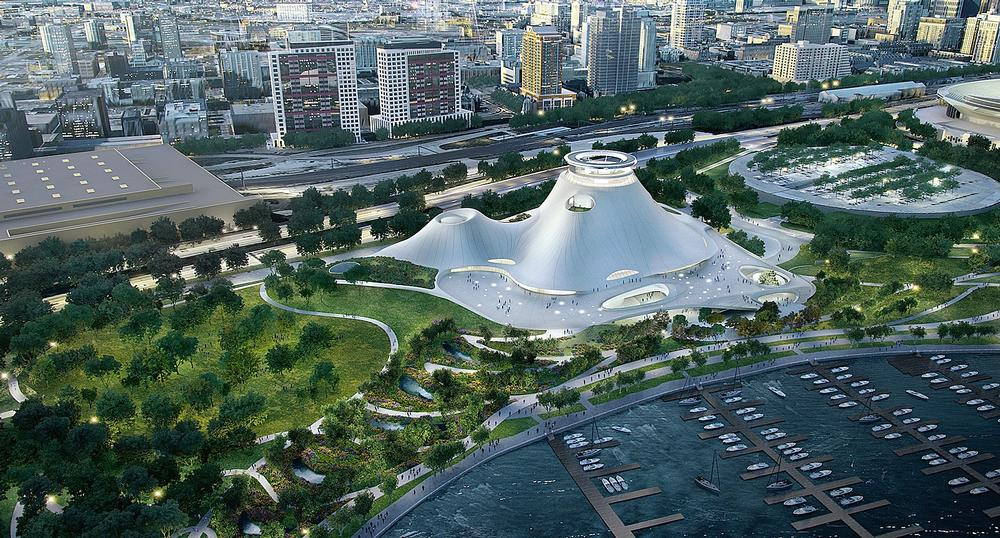 George Lucas is searching for a home for the MAD-designed Lucas Museum of Narrative Art / THE LUCAS MUSEUM OF NARRATIVE ART