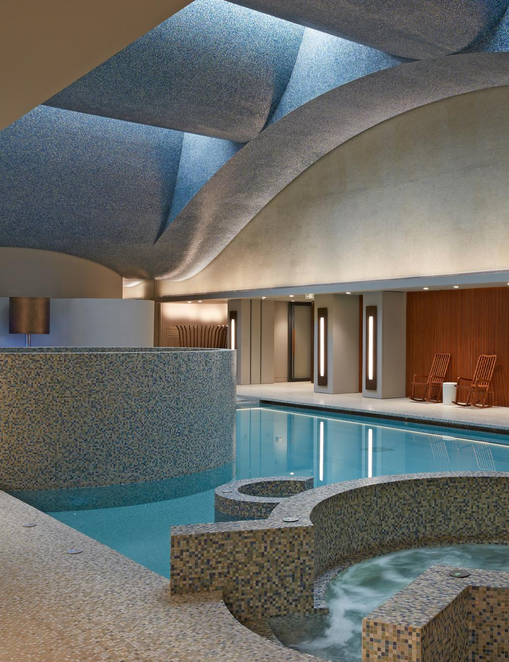Sangha features an indoor and an outdoor pool. Guests are given personalised programmes / Photo: richard bryant