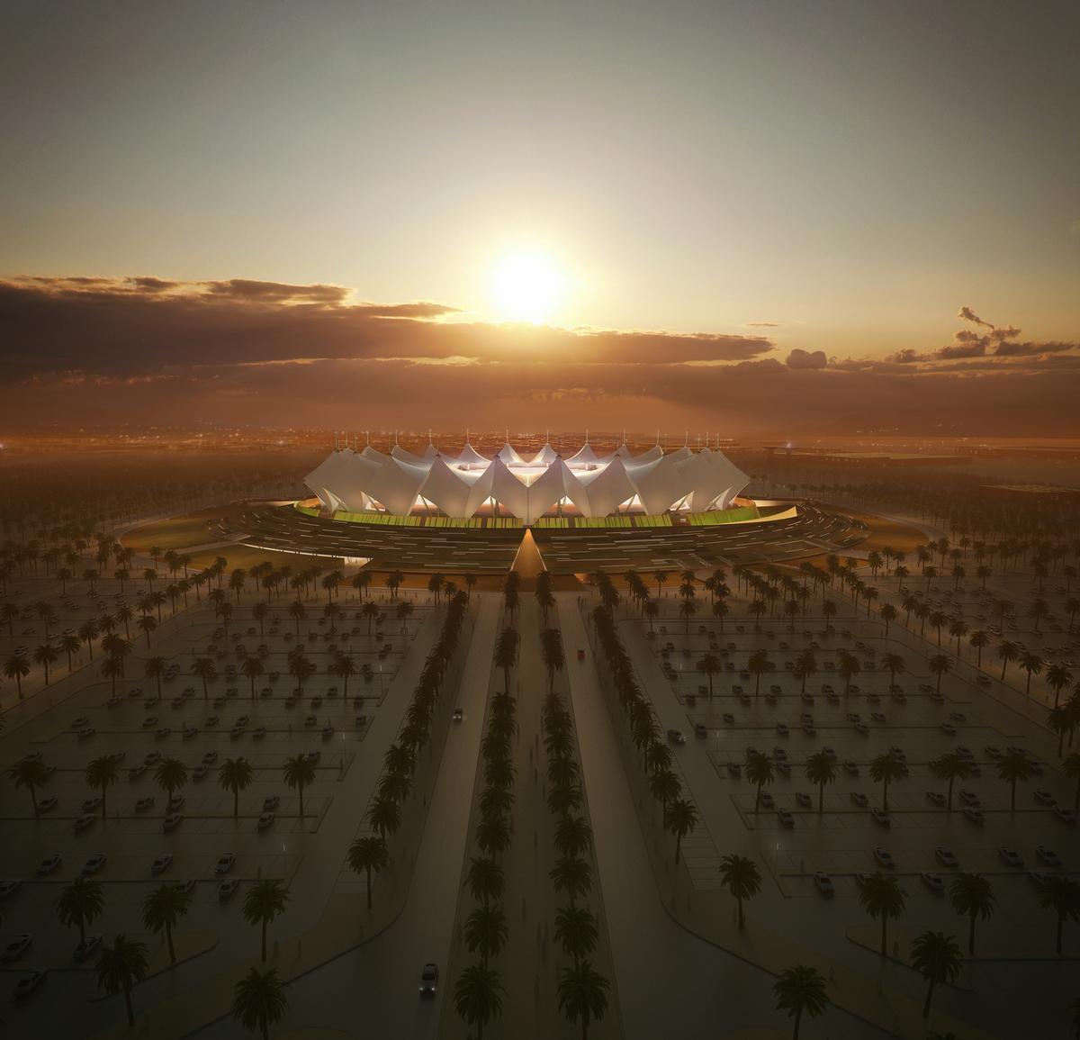 The stadium will have 50,000 seats when the refurbishment is complete / Schiattarella Associati