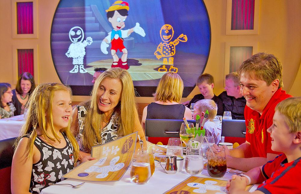 The Animator's Palate restaurant immerses guests in a cartoon storyboard scenario / PHOTO: MATT STROSHANE