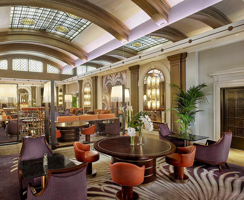 The Palm Court Lounge was renovated as part of the project